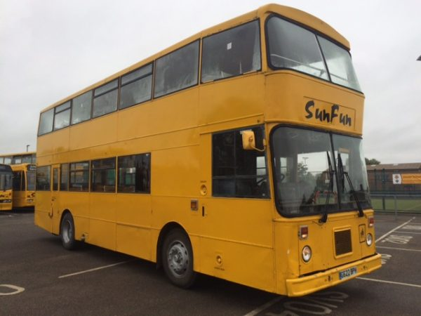 One of the buses being used
