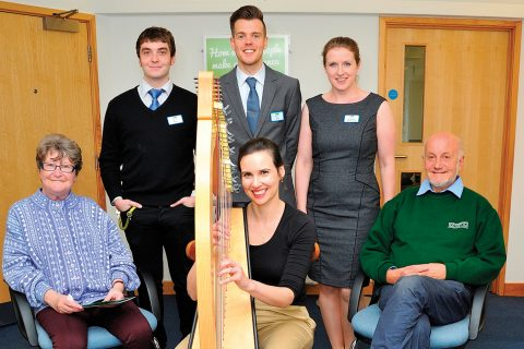 Member events included a harp performance at the Saxmundham branch