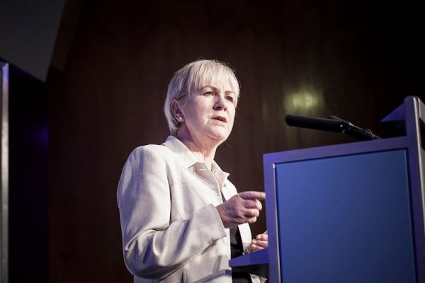 Johann Lamont speaking at the Co-operative Party conference in London
