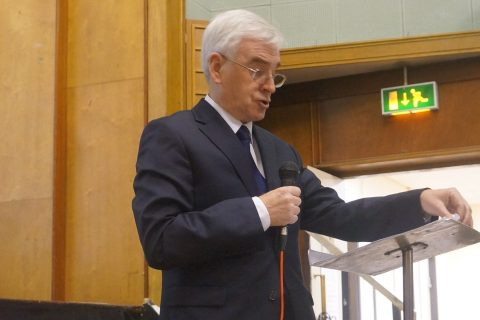 John McDonnell speaking at the Ways Forward conference in Manchester