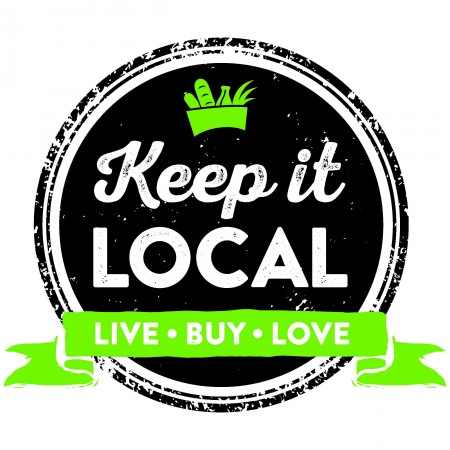 'Keep it Local' stamp