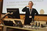 Keri Facer addresses the conference