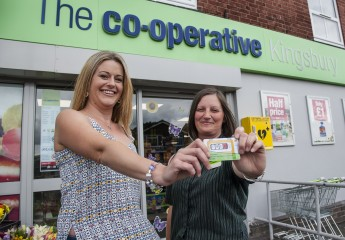 Victoria Smith, winner who entered the draw at Kingsbury Co-op