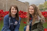 Lisa Sutherland andChloe Wright, along with other colleagues from the Southern Co-operative, volunteered to plant commemorative poppies in the moat of the Tower of London prior toRemembrance Day