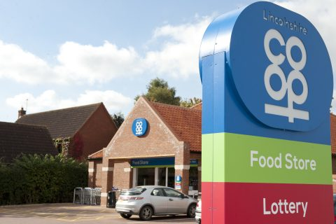 Lincolnshire Co-op food store, Long Bennington. The society has posted strong results for the first half of its financial year