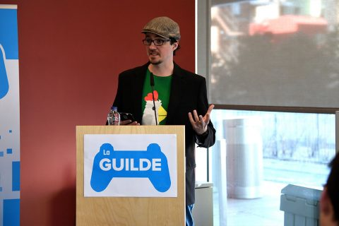 Louis-Félix Cauchon, president of La Guilde – the world's largest independent video games co-operative
