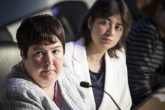 Louise Baldock and Seema Malhotra during the debate on women and equalities (Image: Co-operative Party/Thomas Butler)