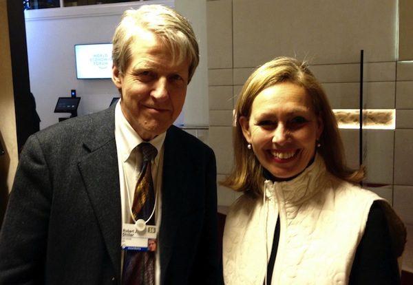 Monique Leroux with Robert Schiller at the World Economic Forum