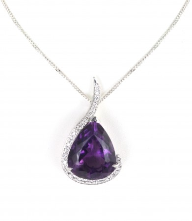 The 65 Amethyst and Diamond Pendant