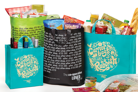 The Co-operative Group is to reinvest profits from its bag range in Wales in good causes