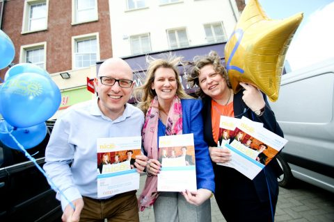 (l-r) Nigel McKinney, director of operations at Building Change Trust who have supported the scheme; Karen Arbuckle, director of NICE; and Tiziana O'Hara of Co-operative Alternatives, which has given NICE support in how to launch a community share offer [photo: Paul Moane/Aurora PA]