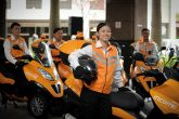 As part of the Orange Revolution campaign, NTUC Income established a fleet of 30 trained motorcyclists in orange outfits who could ride to traffic accidents within 20 minutes