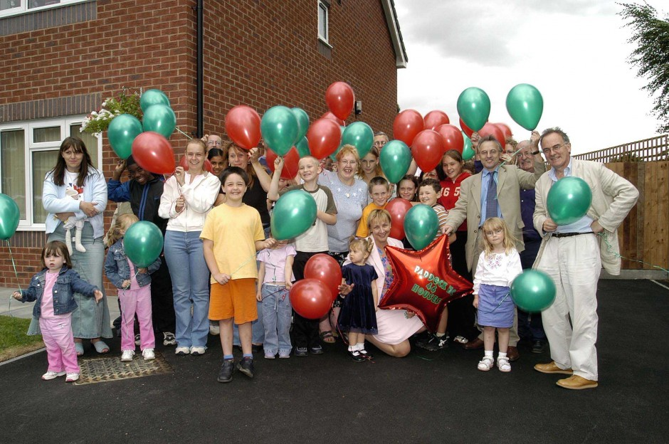 In 2013, Paddock Housing Co-operative celebrated the official opening of 12 new family houses in Paddock Lane, bringing the total number to 46