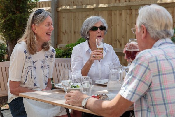 Customers outside the Fox and Hounds in Hampshire [photo: Fox and Hounds]