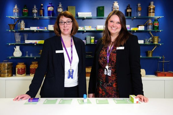 Penny Mosley and Nicole Murdock (l-r), two of the Lincolnshire Co-op pharmacists and teacher practitioners