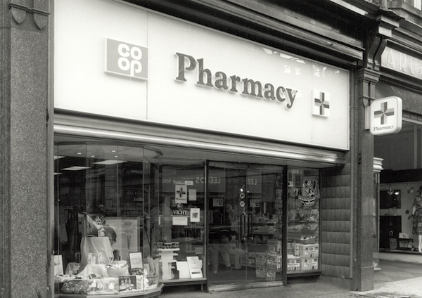 Exterior view of a Co-op Pharmacy.