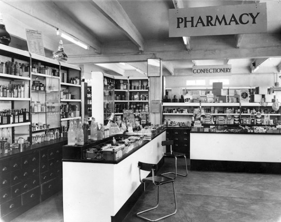 Interior view of Plymouth Co-op Pharmacy.