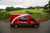 Leicester Carriage Builders, part of the Central England Co-operative, converted 40 vans into mobile 'walk-in' post offices serving 250 remote locations a week