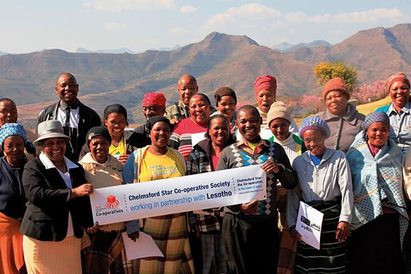 Members of the Mobe Ke Khuata co-operative