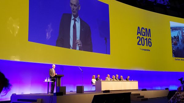 Chief executive Richard Pennycook addressing the AGM on 21 May 2016