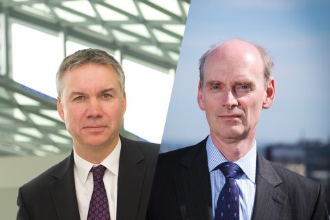 Richard Pennycook (right) takes over as interim chief executive at the Co-operative Group as Euan Sutherland resigns