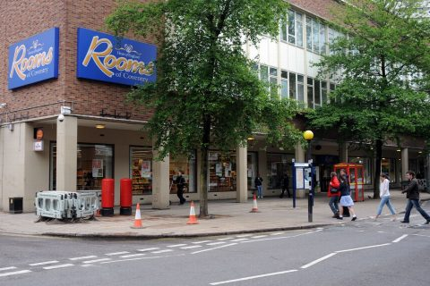 The Heart of England department store in Coventry closed down in October 2015 [photo: Coventry Telegraph]