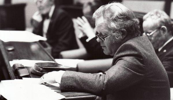 Mr Stuttard at work in the 1990s