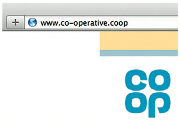 The old co-operative.coop address will still be able to be used after the transition to coop.co.uk