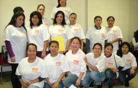 Women worker members of Si se puede, a co-operative of women immigrants providing cleaning services.