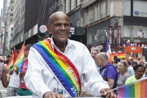 Social activist and co-operator Harry Belafonte at the 2013 Pride Parade on Fifth Avenue, New York City (Image: Lev Radin / Shutterstock.com)