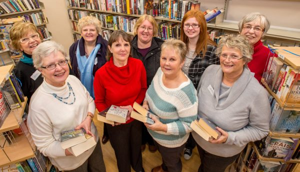 Volunteers at the library, located inside a Lincolnshire Co-op food store