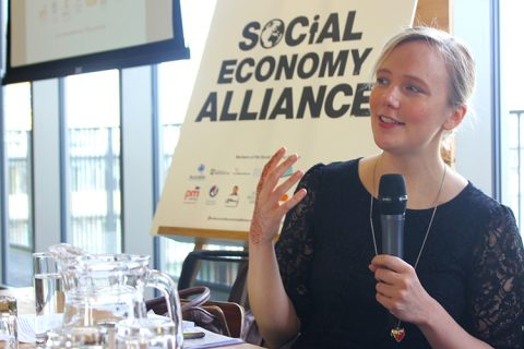 Stella creasy, Labour and Co-operative MP, during Social Economy Alliance discussions in 2013