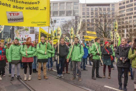 Protesters in Berlin campaign against the TTIP deal (Image: Dragomir Nikolov/Shutterstock.com)