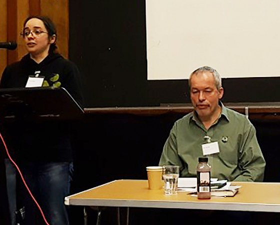 Jenny Carlyle and Bob Cannell (centre)