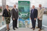 Ellvena Graham (chair of the Belfast Waterfront board), Brian Branch (World Council of Credit Unions), Brian McCrory (Irish League of Credit Unions) and Tim Husbands (vice-chair of Visit Belfast) [photo: Belfast Waterfront]