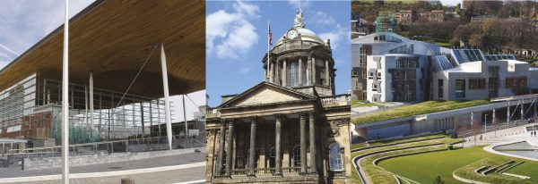 The Co-op Party strengthened its position in Wales (left) and Scotland (right) and in England, scored mayoral posts including Liverpool (centre)