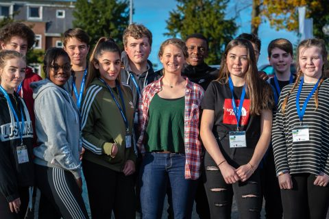 Students from Cannock Chase High School, Codsall High School, Walsall Academy, Myton School, The Forest High School, Bishops Castle and Grace Academy took part in the project