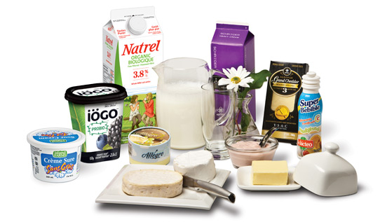 Agropur has an extensive product range