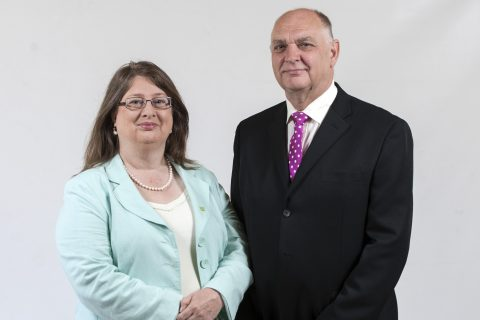 East of England Co-op president Sally Chicken, with vice-president Colin Barrett