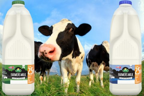 The deal between Arla Foods and Asda adds 25p to the price of four-pint 'Farmers Milk' bottles, with the extra money going back to dairy farmers.