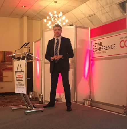 Arttu Laine from S-Group, at the recent Co-op Retail Conference