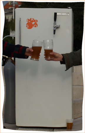 One of BRLOG's 'kegerator' fridges