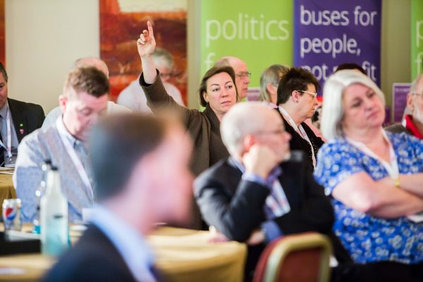 Question and answer sessions were held at the end of each session. [photograph: Co-operatives UK]