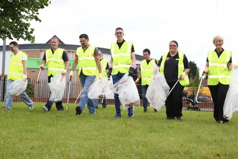 The Central England team picked litter all around Kettering as part of the 2016 Big Co-op Clean.