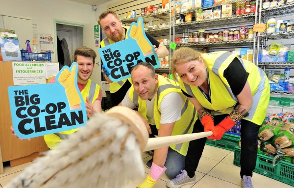 Central England Co-op staff volunteering at the Action Homeless charity in Leicester.