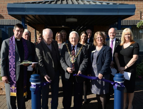 The dedication service was attended by local dignitaries, including the Mayor of Ipswich