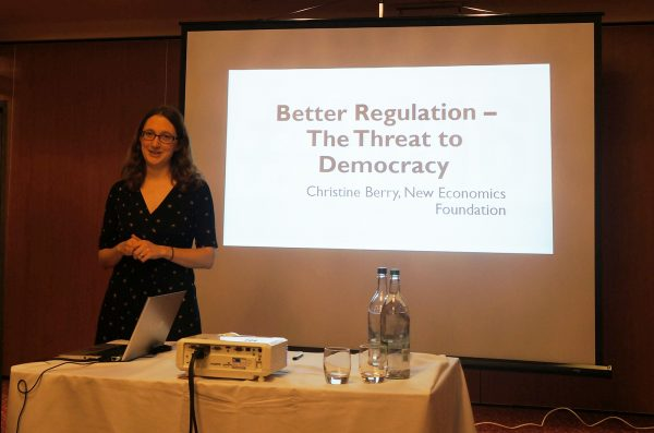 Christine Berry at the conference