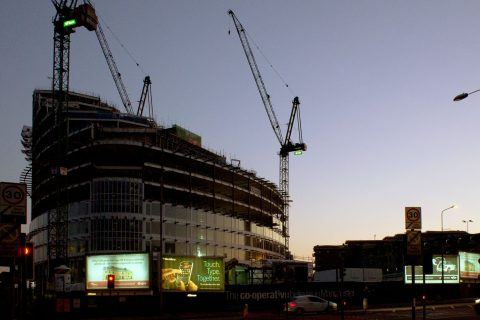 While the Co-operative Group is constructing its future governance proposals, former secretary Nick Eyre warns of the changes to come (Picture: Co-operative Group head office under construction in September 2011 / Rachel Docherty)