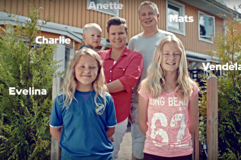 The Palmberg family, who took part in the experiment for Coop's award-winning ad campaign.