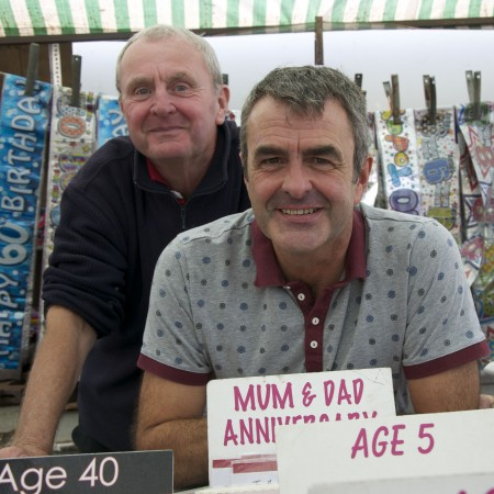 (l-r) Traders Barry and Paul Davison